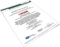 Certificate DIN EN ISO 9001